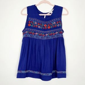 Chelsea & Violet Boho Embroidered Peasant Top